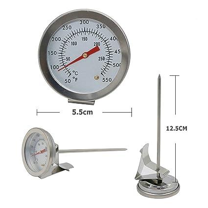 12.5cm : GuDoQi Oil Temperature Meter Food Thermometer Liquid Thermometer Probe Thermometer Kitchen Thermometer