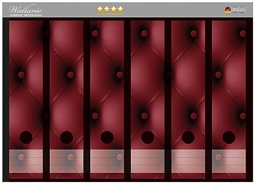 Wall Ario archivadores Pegatinas rojas piel para puerta en ...