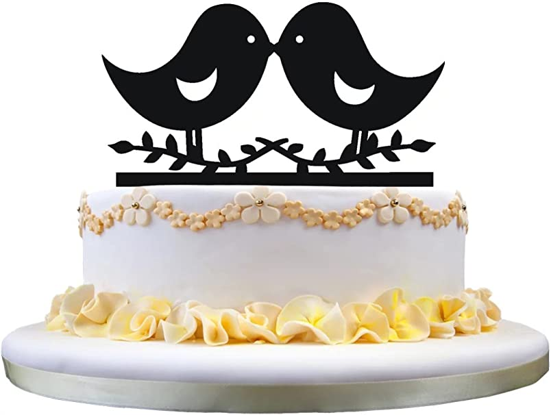 The Bird Of Happiness Love Birds Cake Topper Bird Wedding Cake Topper Perfect For Engagement Wedding Anniversary Party Decoration Amazon Co Uk Kitchen Home
