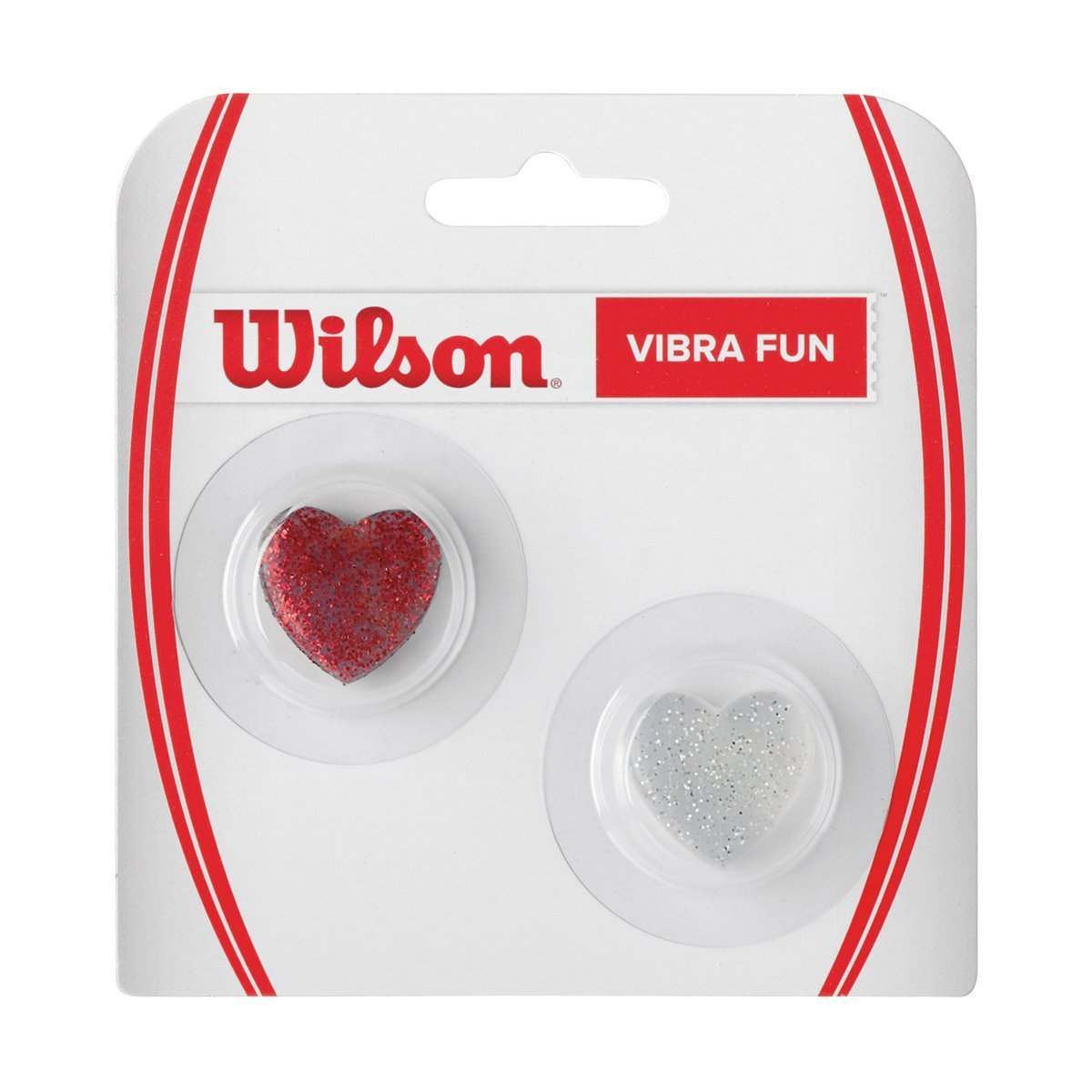 Wilson Vibra Fun Hearts 2er Vibrationsd/ämpfer Herz TI