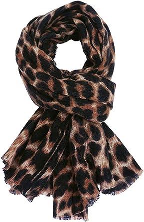 Ladies Striped Animal Print Scarf Large Wrap Shawl Women Fashion Accessory Gift