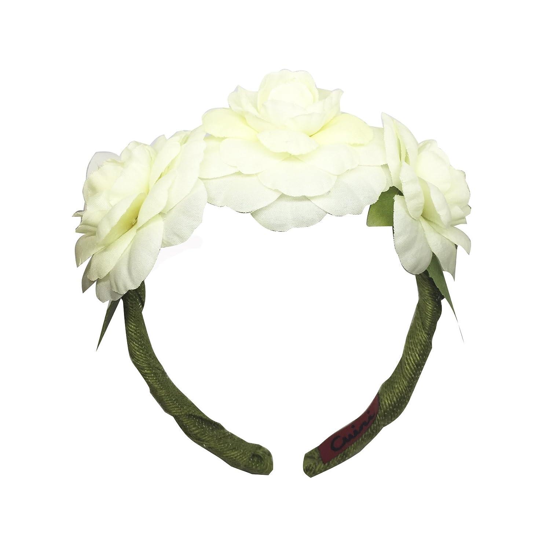 CUINI Diadema Camelias, Color Blanco: Amazon.es: Ropa y ...