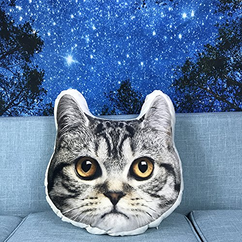 BAONZEN Cat dog big head pet d animal commemorative pillow, 60 double-sided, B