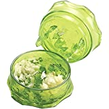 Native Spring No Mess Garlic Press with a Twist, Peels Minces or Crushes for Quick Meal Preparation Green