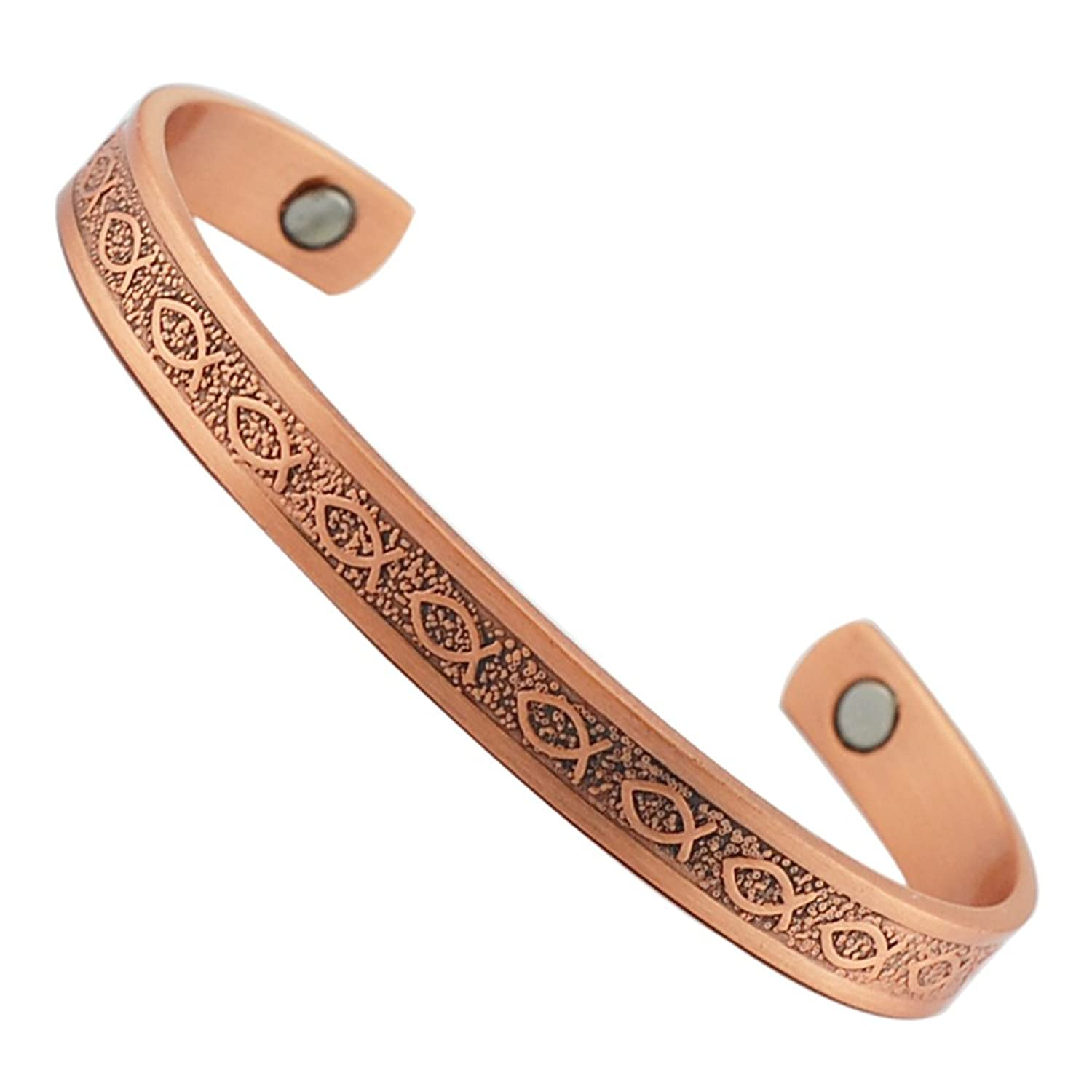 Sufferers wear copper jewelry in the hopes of easing symptoms - Amazon Com Cpb 0018 Wollet Jewelry 6 5 Magnetic Copper Bracelet For Arthritis For Women Jewelry