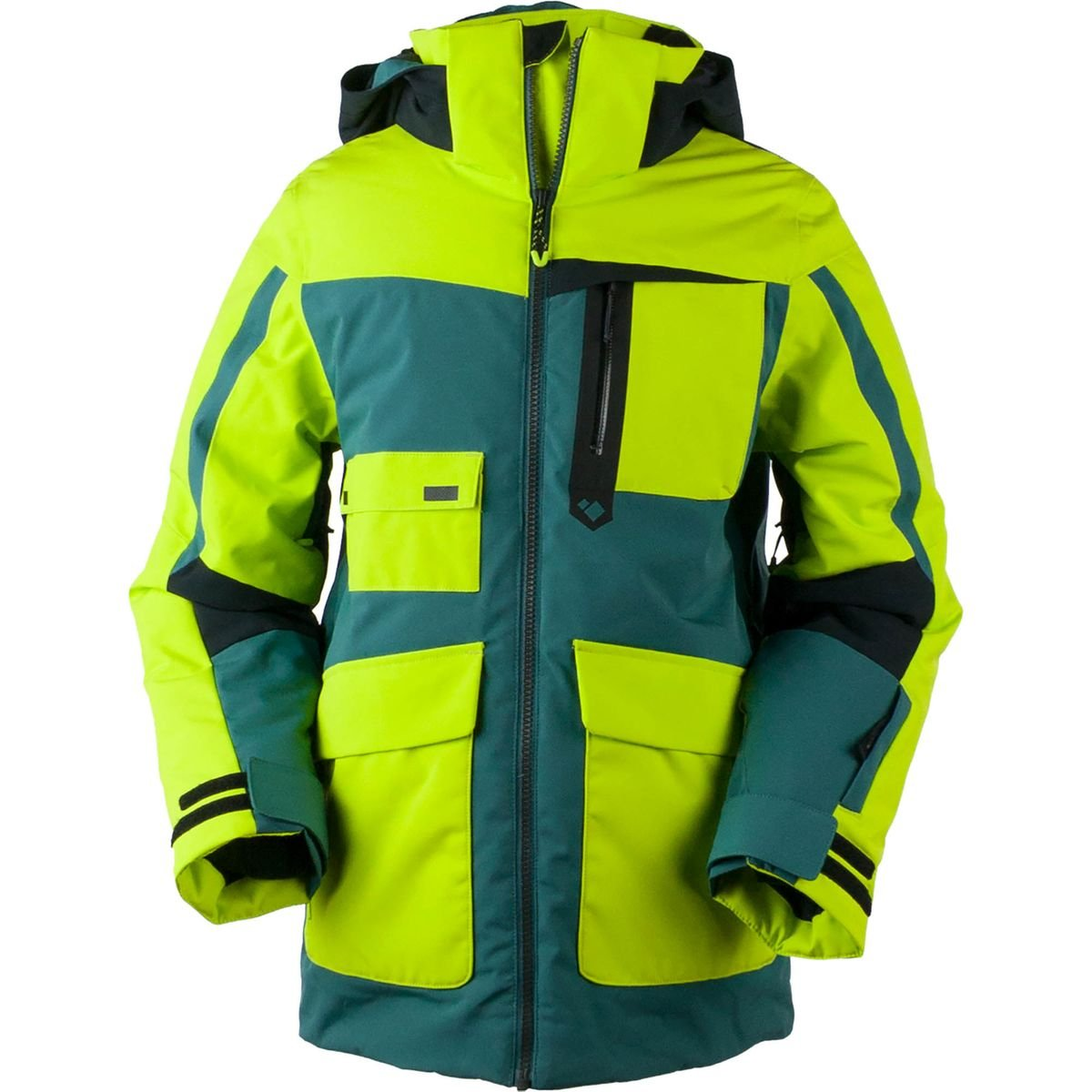 Obermeyer Kids  Boy's Axel Jacket (Little Kids/Big Kids) Green Flash Large