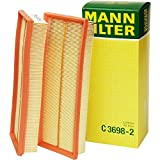 Mann Filter C 3698/3-2 Air Filter Element, (Set of 2)