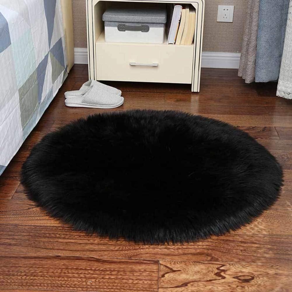 Home, Furniture & DIY Rugs 100cm Shaggy Fluffy Rug Kids ...