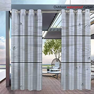 Amazoncom Qianhe Patio Curtains Gray Wood Panelingjpg Outdoor