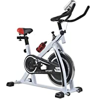 Indoor Exercise Bike Spinning Cycling Bike Stationary W/LCD Display Heart Rate Adjustable...
