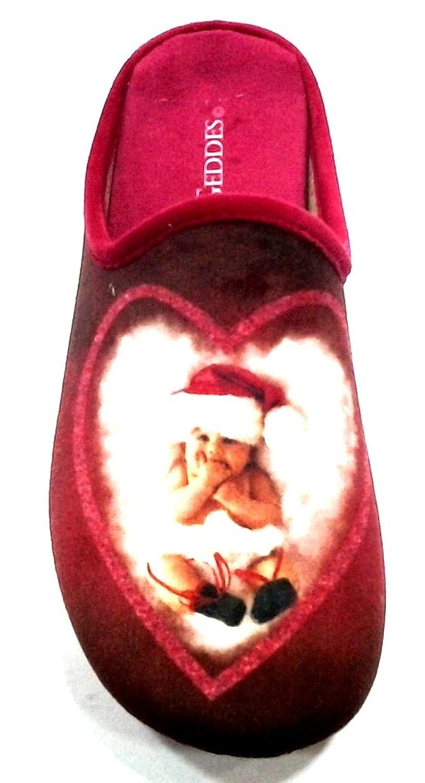 ANNE GEDDES - Zapatillas de estar por casa para mujer Rojo rojo 36 Rojo Size: 39 1oHsBn1