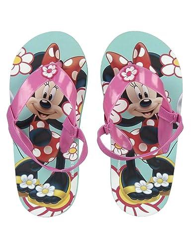 65256d06797 Tongs avec élastique Enfant Fille Minnie Disney Rose Vert du 24 au 27 - Rose