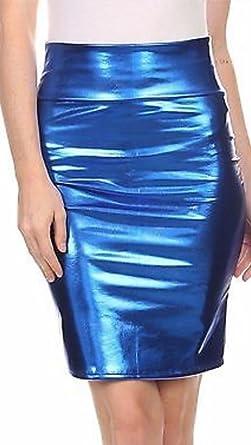 Elite Pleasure falda de fiesta para mujer, de talle alto, de PVC ...