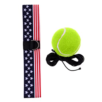 D DOLITY 1 Pieza de Pelota Bola Suministros de Deportes con Correa Cuerda de Cabeza Ligero para Adultos - Amarillo: Amazon.es: Deportes y aire libre