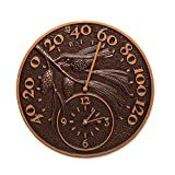 Orvis Decorative Thermometer Clock, Pinecone