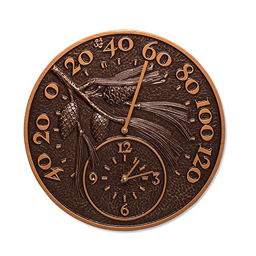 Orvis Decorative Thermometer Clock, Pinecone by Orvis