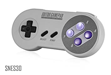 SNES30 - Classic Wireless Bluetooth Game Controller - 8Bitdo SN30 Retro  Joystick Gamepad with USB & Bluetooth Connection, Multi-mode emulator games