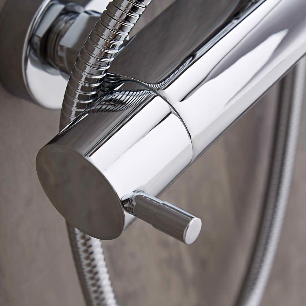 Mitigeur Thermostatique de Douche 1 Fonction Design Cylindrique Hudson Reed
