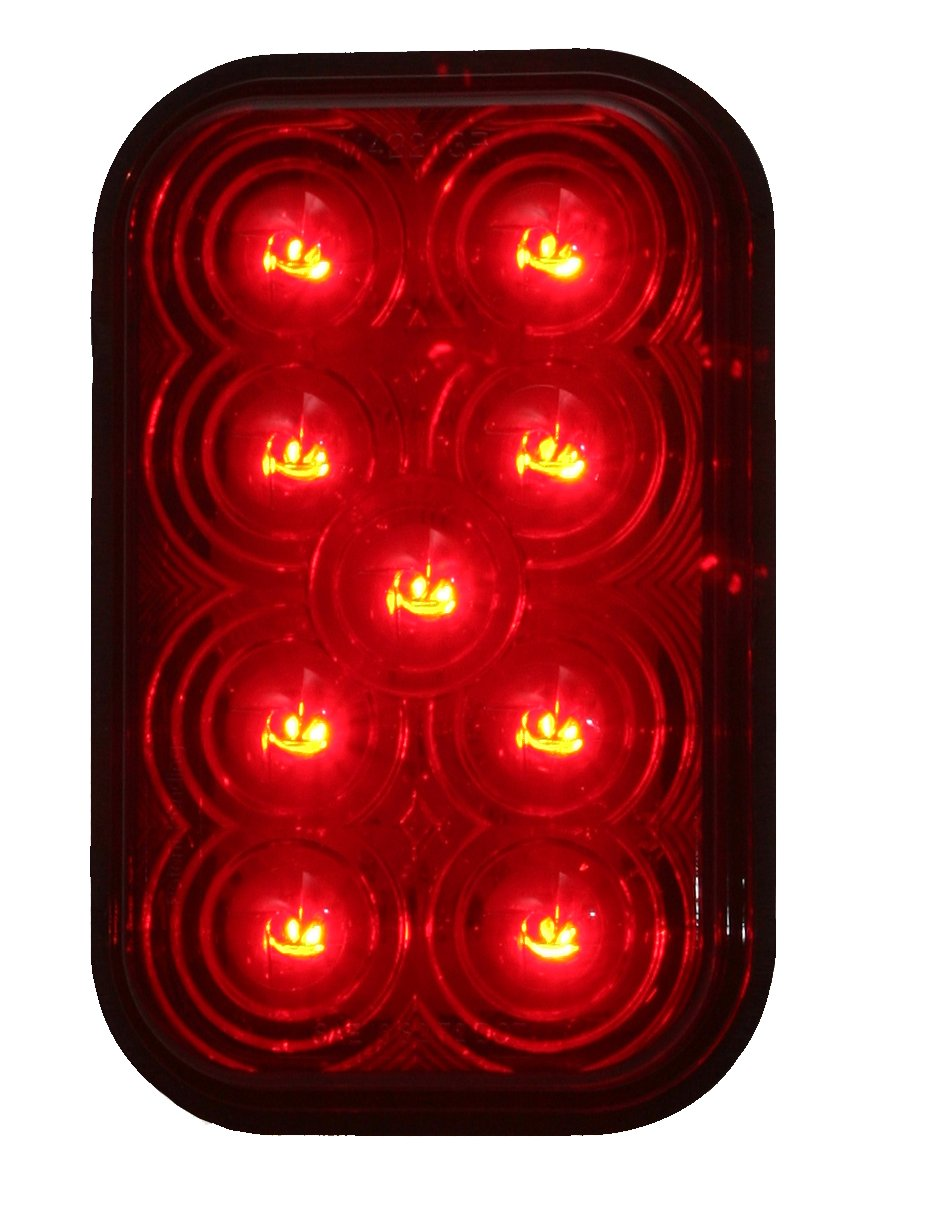 Maxxima M42213R Red 5 Rectangular Stop//Tail//Turn Light
