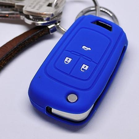 Soft Case Silikon Auto Schlüssel Schutz Hülle Blau Elektronik