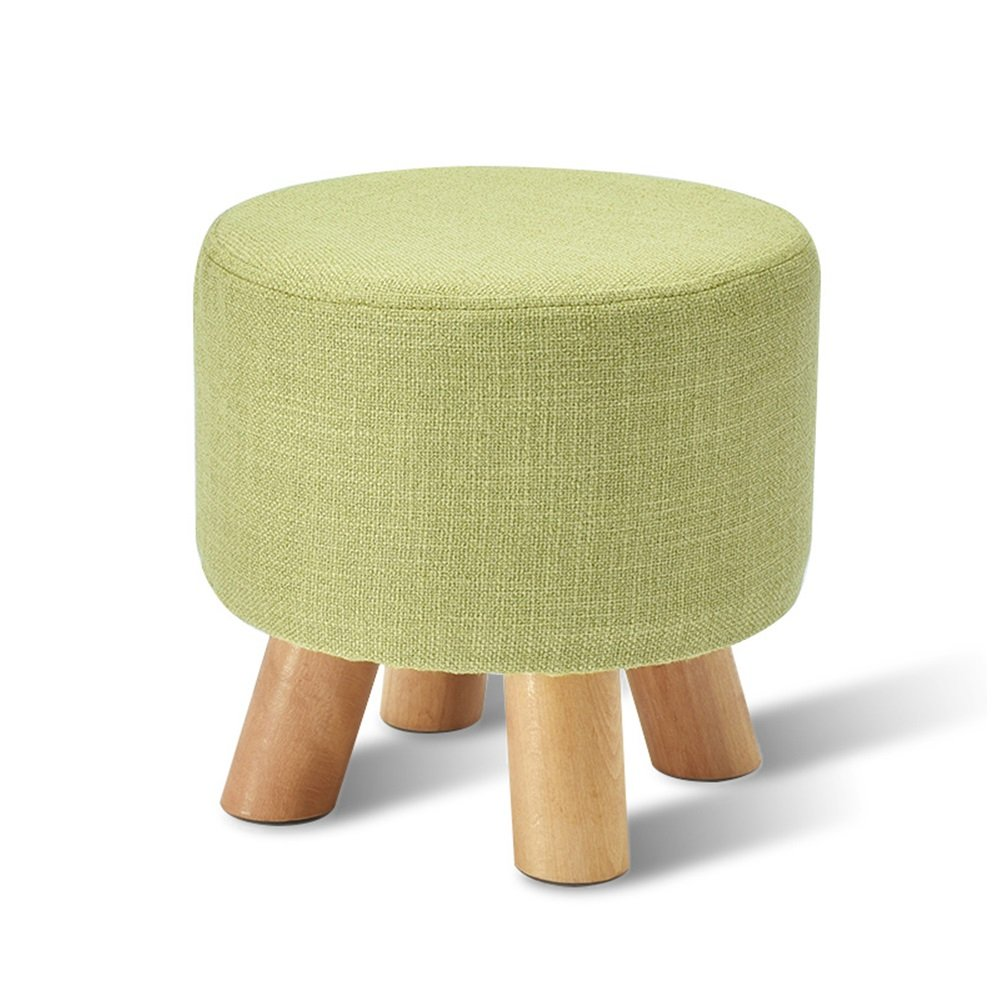 Xin-stool Solid wood stool/living room sofa stool/Household stool/Bed stool Stools/Multifunctional footstool/Coffee Table Stool/Creative shoe bench/Bench/2927cm (Color : Green)