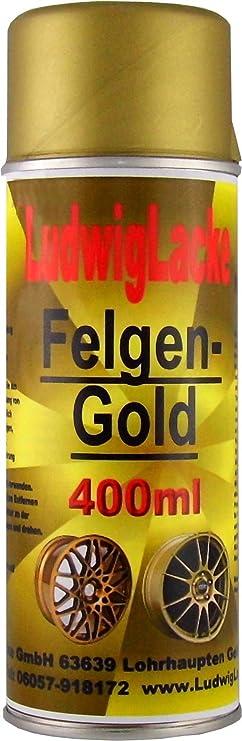Ludwig Lacke 1 Felgengold Spray 400 Ml Je Spraydose Auto