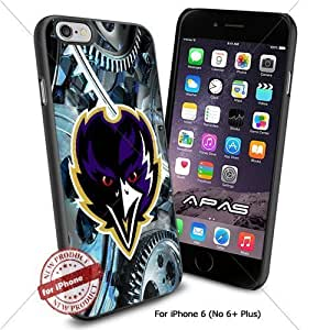 Baltimore Ravens NFL Silicone Skin Case Rubber Iphone 6 Case Cover Black color [ Original by WorldPhoneCase Oly ]
