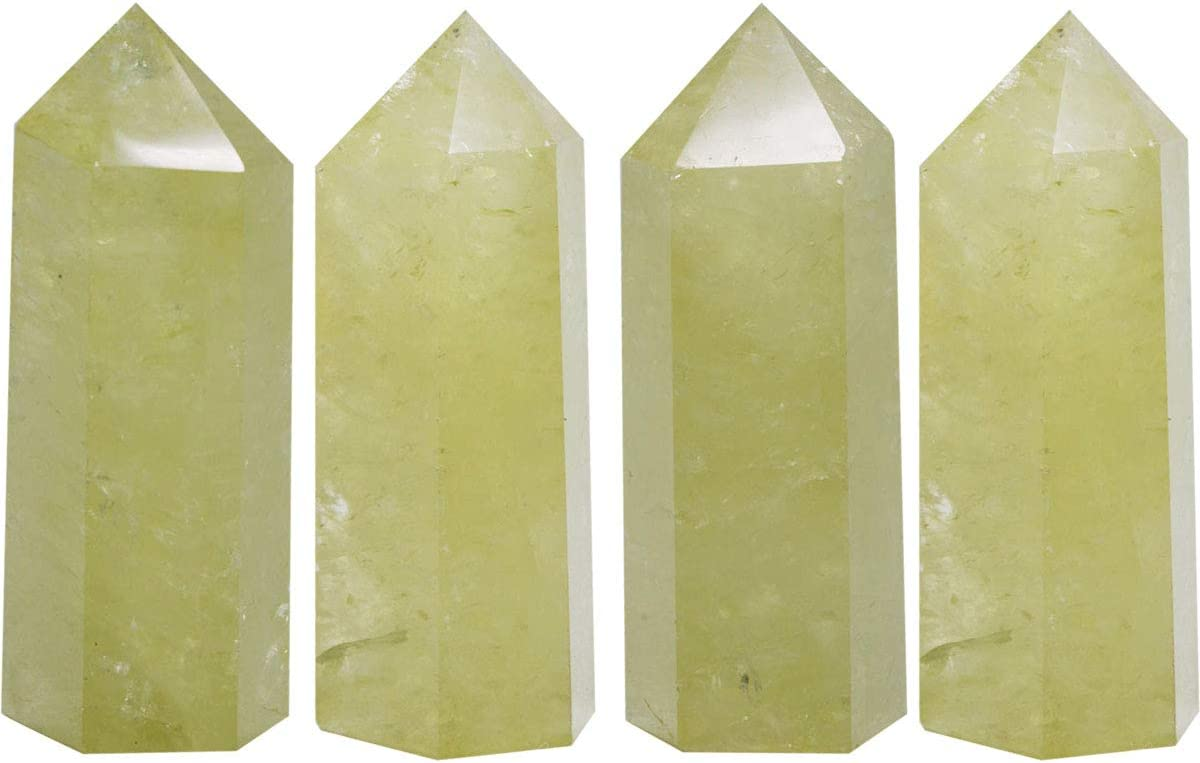 1pcs Red Green Zoisite Obelisk Tower Natural Quartz Crystal Point Healing Wand
