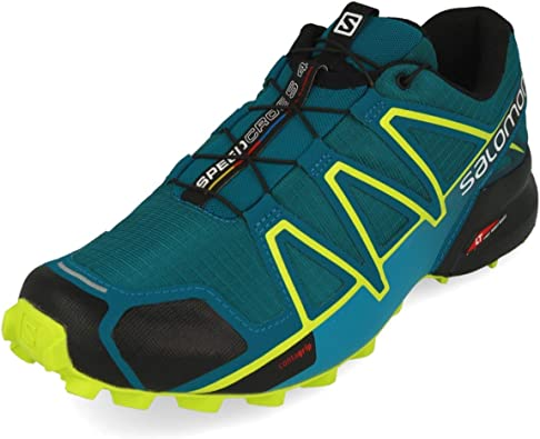 Salomon Speedcross 4 Azul Verde L40465200: Amazon.es: Zapatos y ...