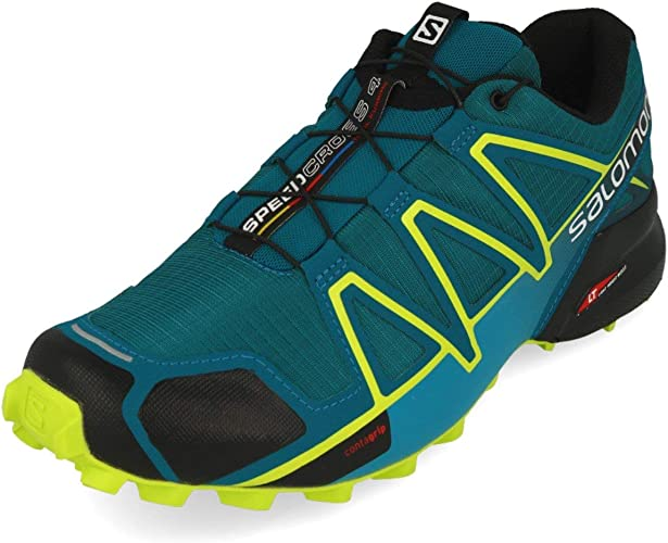 Salomon Speedcross 4 Azul Verde L40465200: Amazon.es