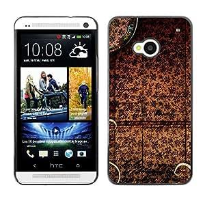 El mantel chino - Metal de aluminio y de plástico duro Caja del teléfono - Negro - HTC One M7