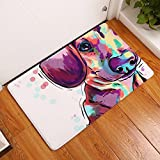 Cheap Tuscom Flannel Big Face Dog Animal Home Print Mat Door Mat|Soft and Comfortable Non-Slip Durable Door Floor Mats| 40 x60 cm for Hall Kitchen Bathroom Carpet Decor(16 Colors) (P)