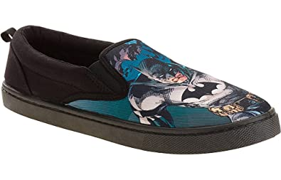053778c68a1c Batman Mens Canvas Slip On Shoe (7)