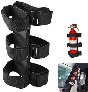 Basicon Adjustable Strap Fire Extinguisher 3 lb Fire Extinguisher Holder for Car SUV Truck UTV and Home Use
