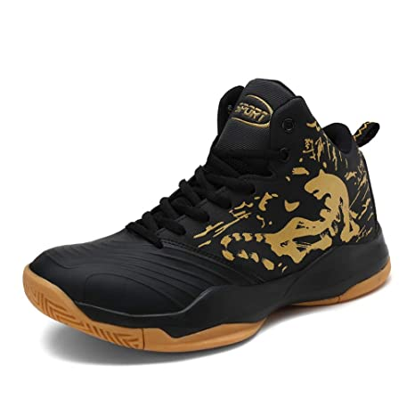 Mens Basketball Boots Shoes High Top Sports Sneakers Athletic Fashion Outdoor