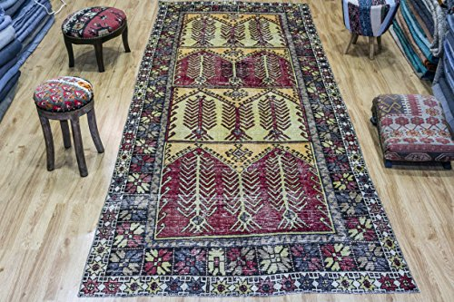 Turkish Rug, Vintage Turkish Rug 4.56x11.38 ft (139x347 cm)