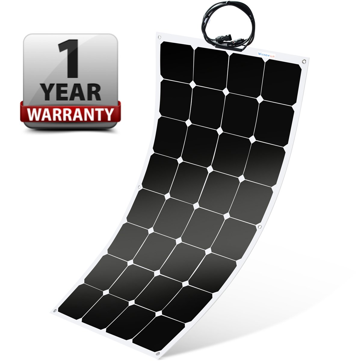 Flexible Solar Panel ,SunPower Solar Panel 100w 18V 12V ,Lightweight Flexible Solar Power Panels for RV Boat Truck Car Van Tent