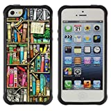 King Case@ Reading Library Teach School Rugged hybrid Protection Impact Case Cover For iphone 5S CASE Cover ,iphone 5 5S case,iphone5S plus cover ,Cases for iphone 5 5S