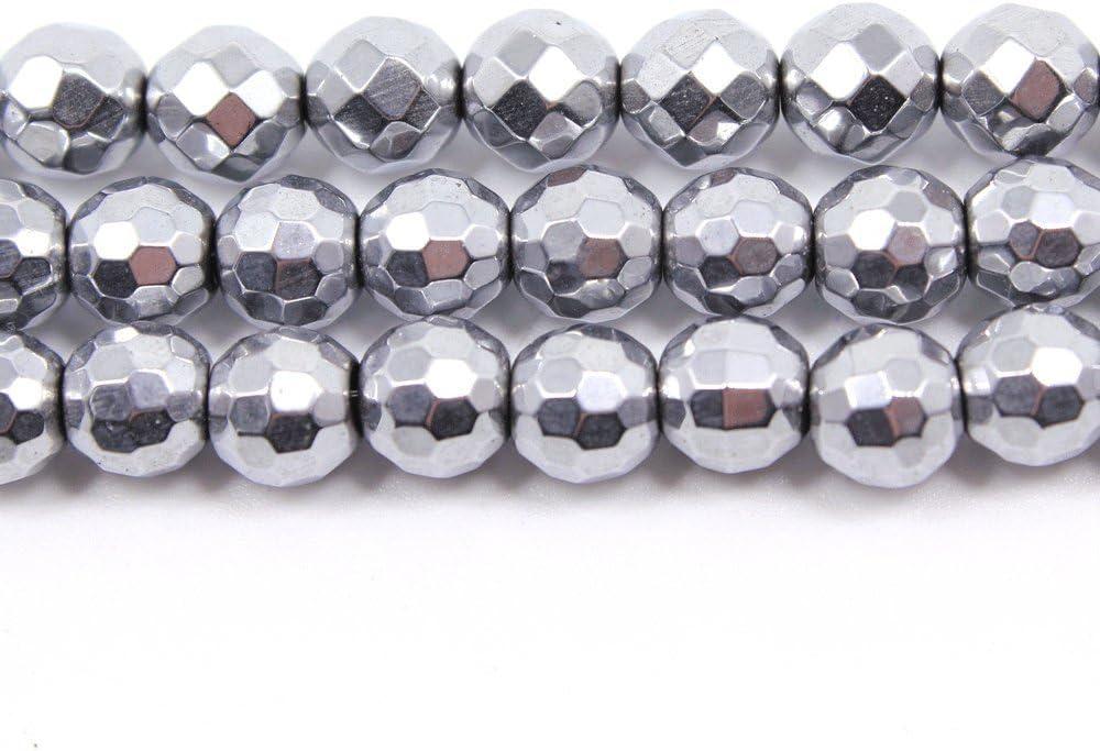 jarc Cuentas Para Pulseras Energ/éticas Pulsera de Yoga Pulsera DIY Cuentas de Piedra Natural Arco Iris Hematita 95 Piezas 4 mm 34 cm