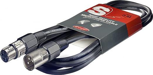 55 opinioni per Stagg- Cavo da microfono di alta qualità, 3 m, da XLR a XLR, Nero