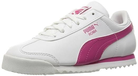 PUMA Kids' 36159422 Running Shoe, Puma White/Fuchsia Purple, 13.5 M US