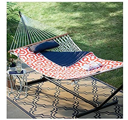 8d75f71244d Amazon.com : Island Bay 11 ft. Cotton Rope Double Hammock with Metal ...