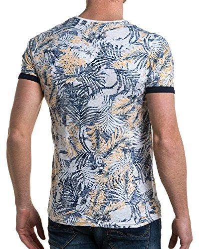 Fleurio Avec shirt People Imprimé Sur American Jaune Poche L'envers Poitrine T UwF8qZI