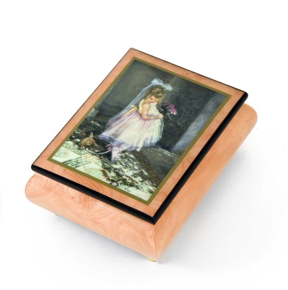 Handcrafted Ercolano Music Box Featuring ''Little Darling'' by Sandra Kuck - Love Story (Love Story the Movie)