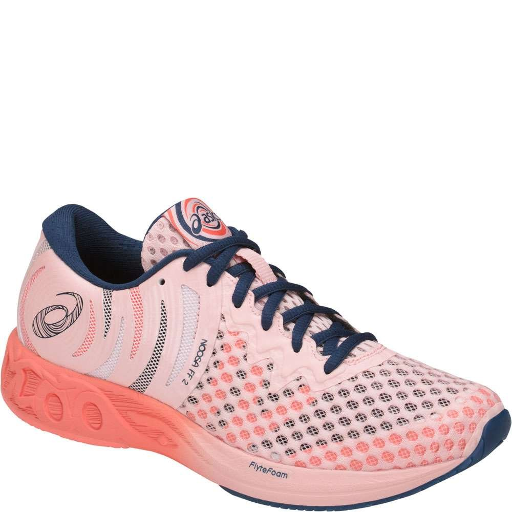 ASICS Womens Noosa FF 2 Running Shoe B071VS44SP 5 B(M) US|Seashell Pink/Dark Blue/Begonia Pink