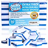 (50 Pack) Extra Durable Magic Cleaning Eraser Sponge - 2x Thick, 3x ...
