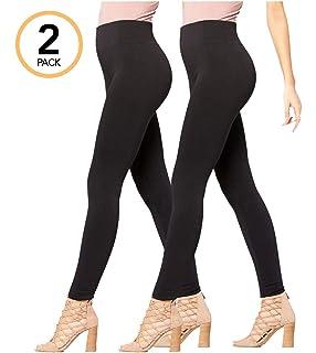 Premium Womens Fleece Lined Leggings - High Waist - Regular and Plus Size