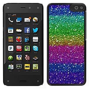 Caucho caso de Shell duro de la cubierta de accesorios de protección BY RAYDREAMMM - Amazon Fire Phone - Púrpura Rosa Verde brillante brillante