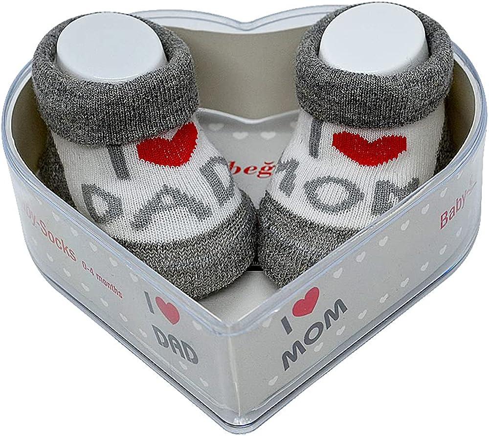Calcetines de bebé recién nacido, 0 – 4 meses para bebés y niñas   regalo perfecto para recién nacidos, bebés y baby showers   certificado Oeko-Tex ®