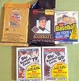 100+ Vintage Baseball Cards Lot In Sealed Unopened Cello Jumbo Packs 1988 1989 Topps 1988 Fleer 1992 Pinnacle and 1993 Upper Deck